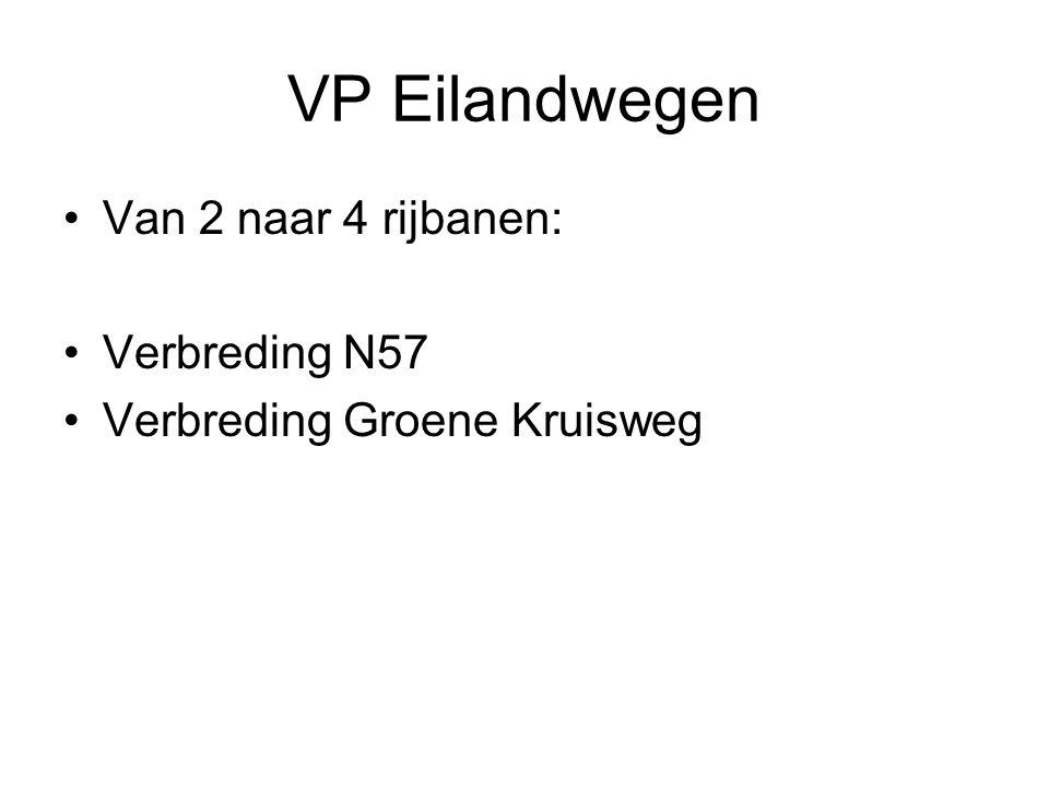 VP Eilandwegen Van 2 naar 4 rijbanen: Verbreding N57 Verbreding Groene Kruisweg
