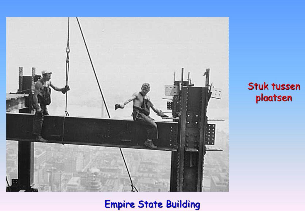 Stuk tussen plaatsen plaatsen Empire State Building