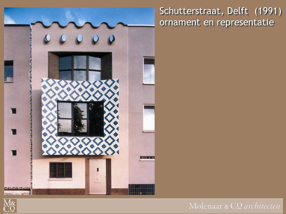 Schutterstraat, Delft (1991) ornament en representatie
