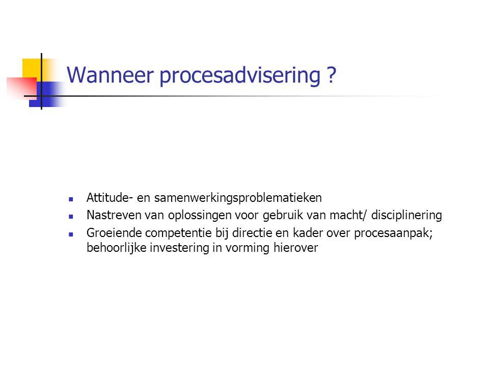 Wanneer procesadvisering .