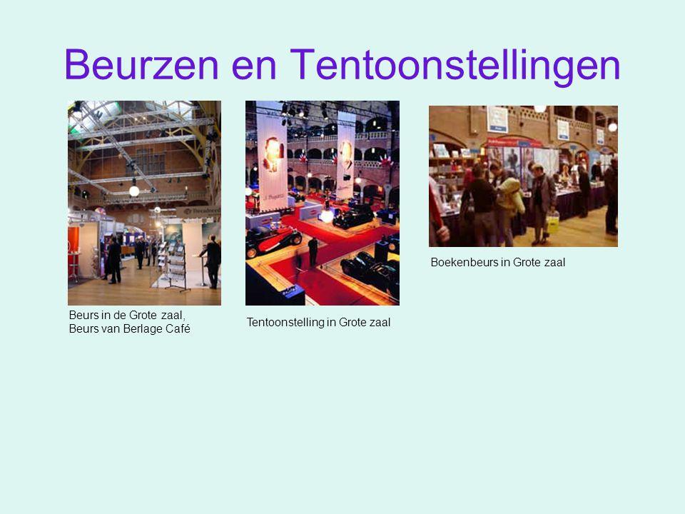 Beurzen en Tentoonstellingen Beurs in de Grote zaal, Beurs van Berlage Café Boekenbeurs in Grote zaal Tentoonstelling in Grote zaal