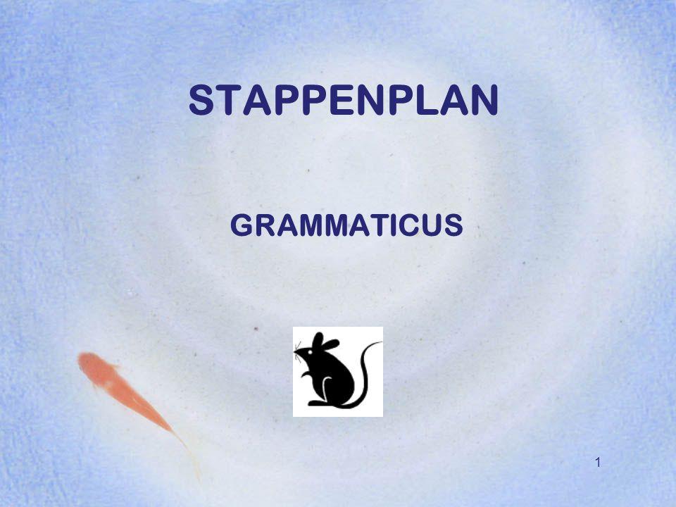 1 STAPPENPLAN GRAMMATICUS