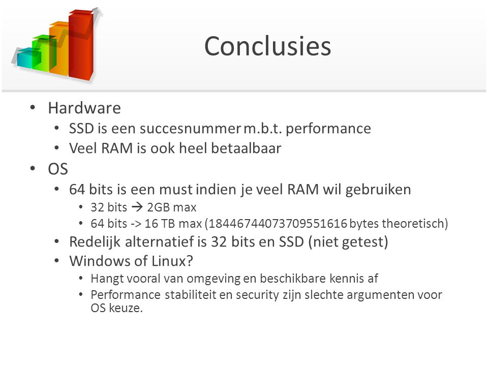 Conclusies Hardware SSD is een succesnummer m.b.t.