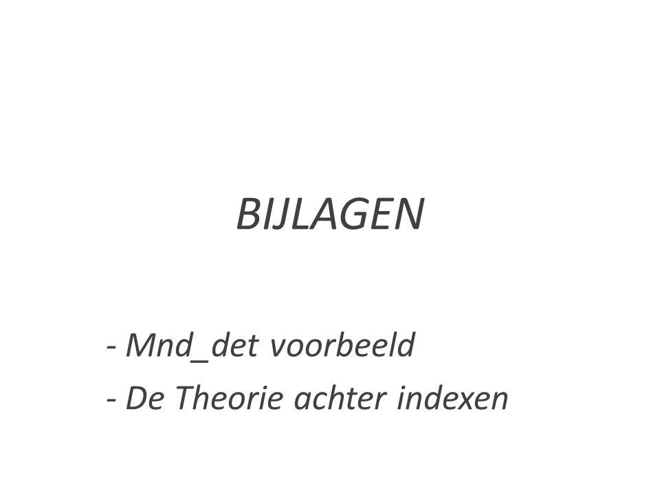 BIJLAGEN - Mnd_det voorbeeld - De Theorie achter indexen