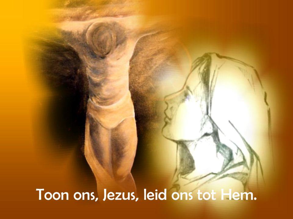 Toon ons, Jezus, leid ons tot Hem.