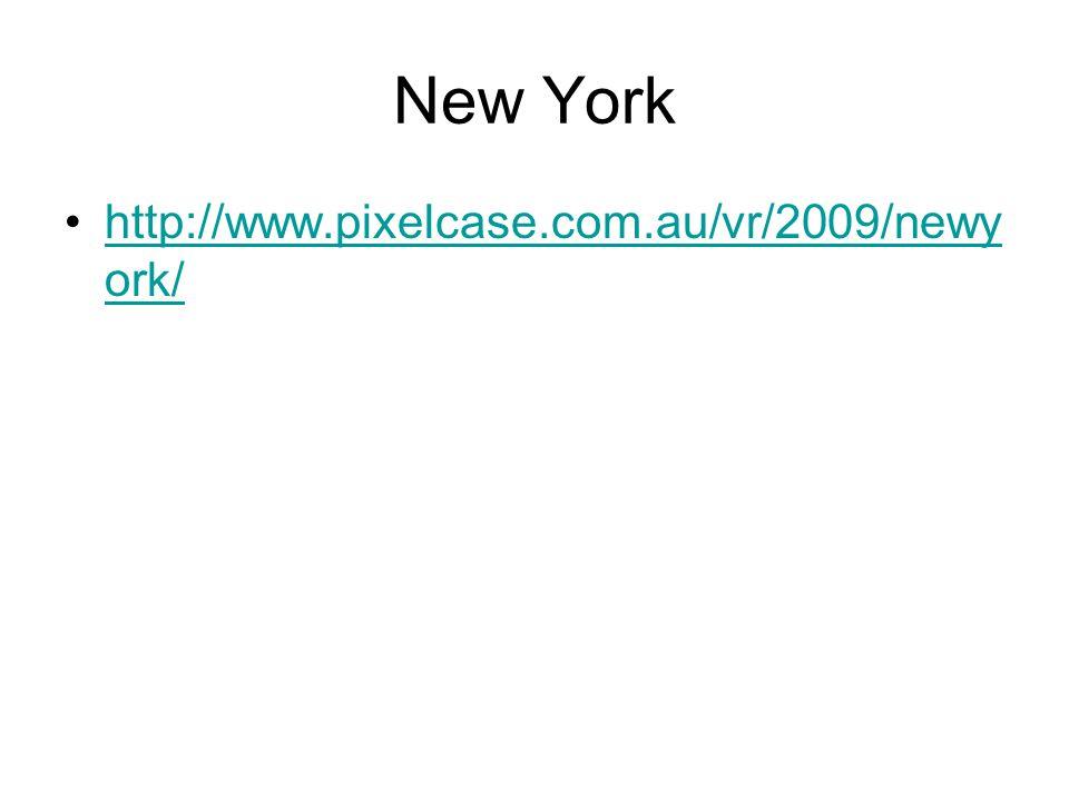 New York http://www.pixelcase.com.au/vr/2009/newy ork/http://www.pixelcase.com.au/vr/2009/newy ork/