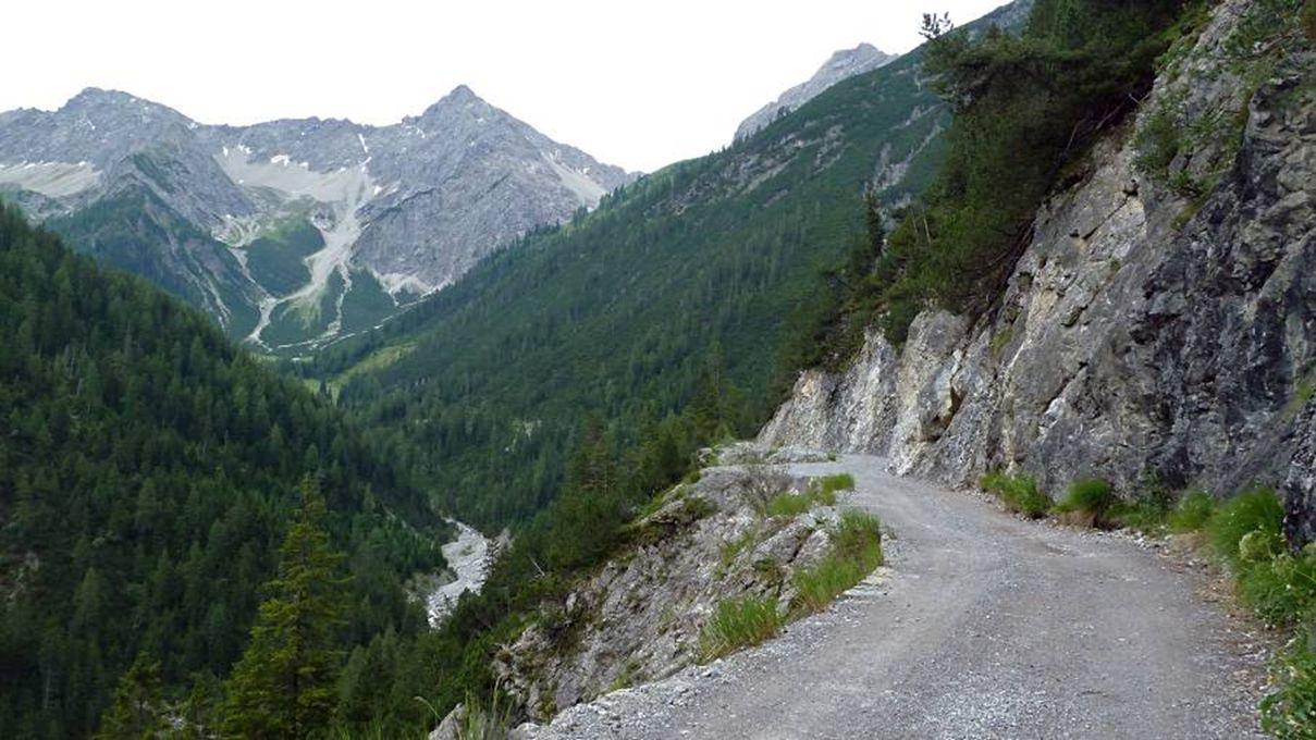 zondag 3 juli, onze laatste wandeling in het Lechtal