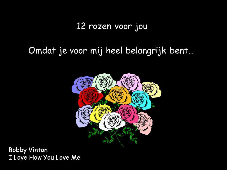 12 rozen voor jou Omdat je voor mij heel belangrijk bent… Bobby Vinton I Love How You Love Me