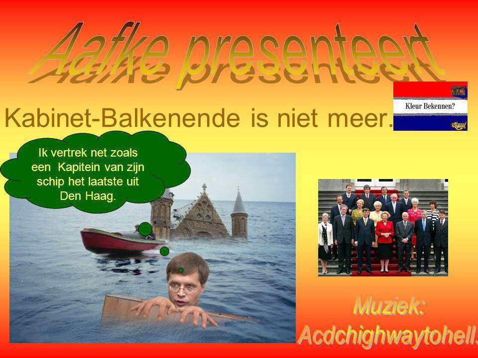 Kabinet-Balkenende is niet meer.