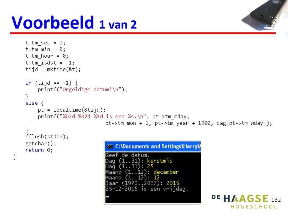 int main(void) { HANDLE hCom; char in; hCom = InitCom(1); printf( Er wordt nu een S verstuurd.\n ); WriteCom(hCom, S ); printf( Ontvangen karakters worden op het scherm gezet ); printf( totdat een Q wordt ontvangen.\n ); do { in = ReadCom(hCom); if (in != Q ) { putchar(in); } } while (in != Q ); CloseHandle(hCom); printf( \nEINDE.\n ); getchar(); return 0; } 133 Seriële communicatie (1 van 4) Zie: http://bd.eduweb.hhs.nl/micprg/pdf/serial-win.pdf (Robertson Bayer).http://bd.eduweb.hhs.nl/micprg/pdf/serial-win.pdf InitCom, WriteCom en ReadCom zijn door mij geschreven functies.