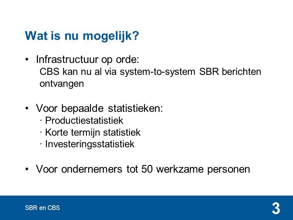 SBR en CBS 3 Wat is nu mogelijk.