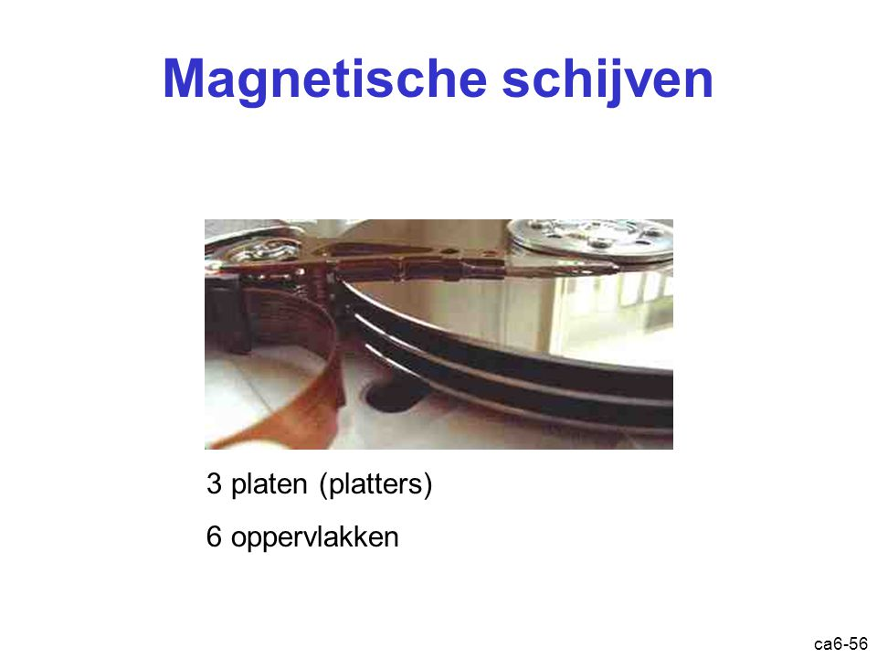 ca6-56 Magnetische schijven 3 platen (platters) 6 oppervlakken