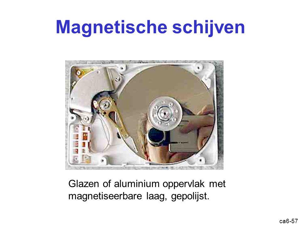 ca6-57 Magnetische schijven Glazen of aluminium oppervlak met magnetiseerbare laag, gepolijst.