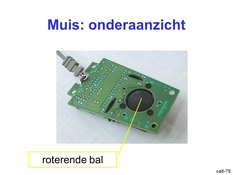 ca6-79 Muis: onderaanzicht roterende bal