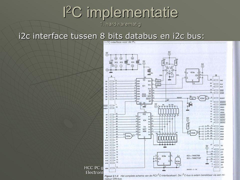 HCC PC gebruikersgroep: Practical Electronics, 26-02 Maarssenbroek I 2 C implementatie 1.