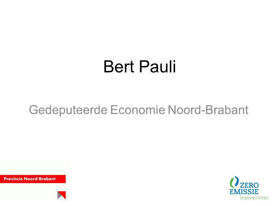 Bert Pauli Gedeputeerde Economie Noord-Brabant