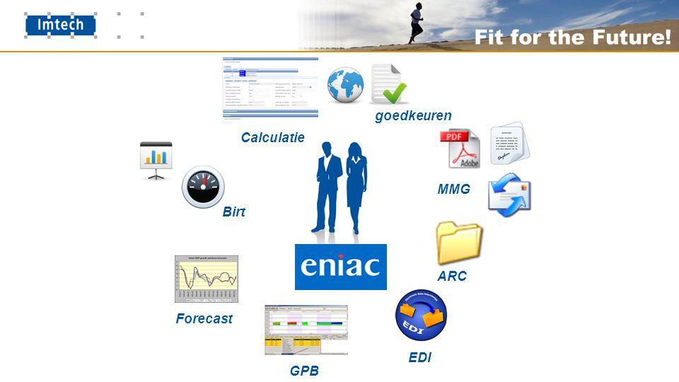 MMG ARC EDI GPB Birt Forecast goedkeuren Calculatie