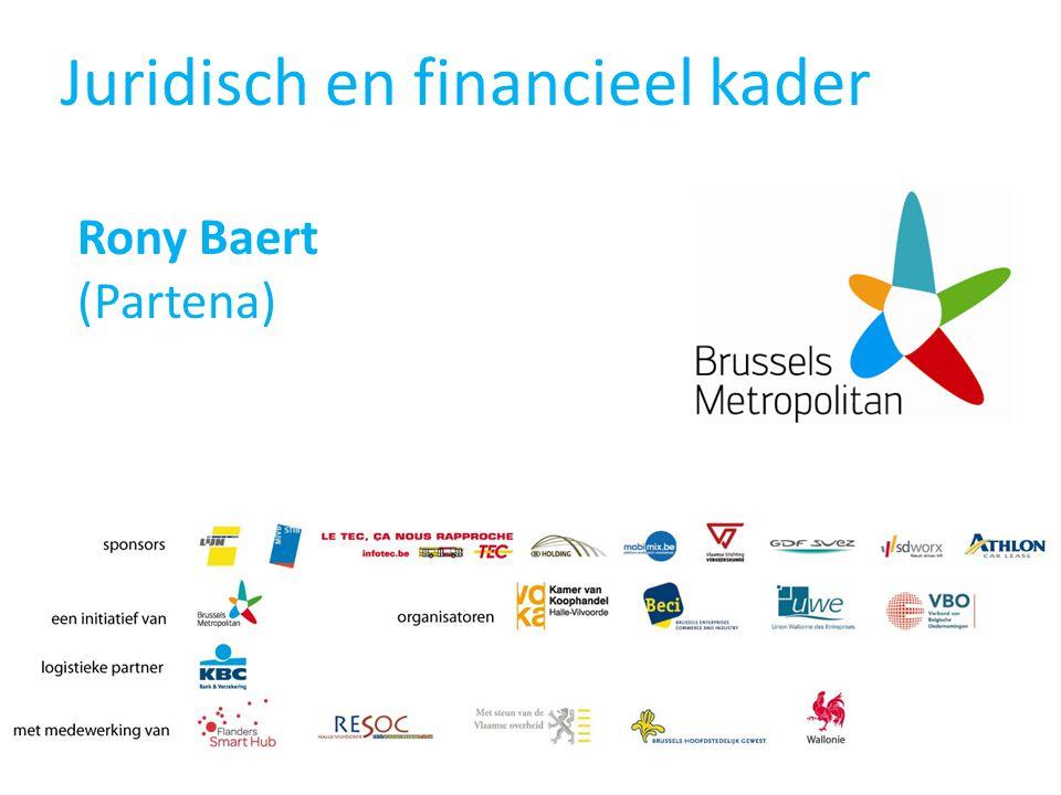 Juridisch en financieel kader Rony Baert (Partena)