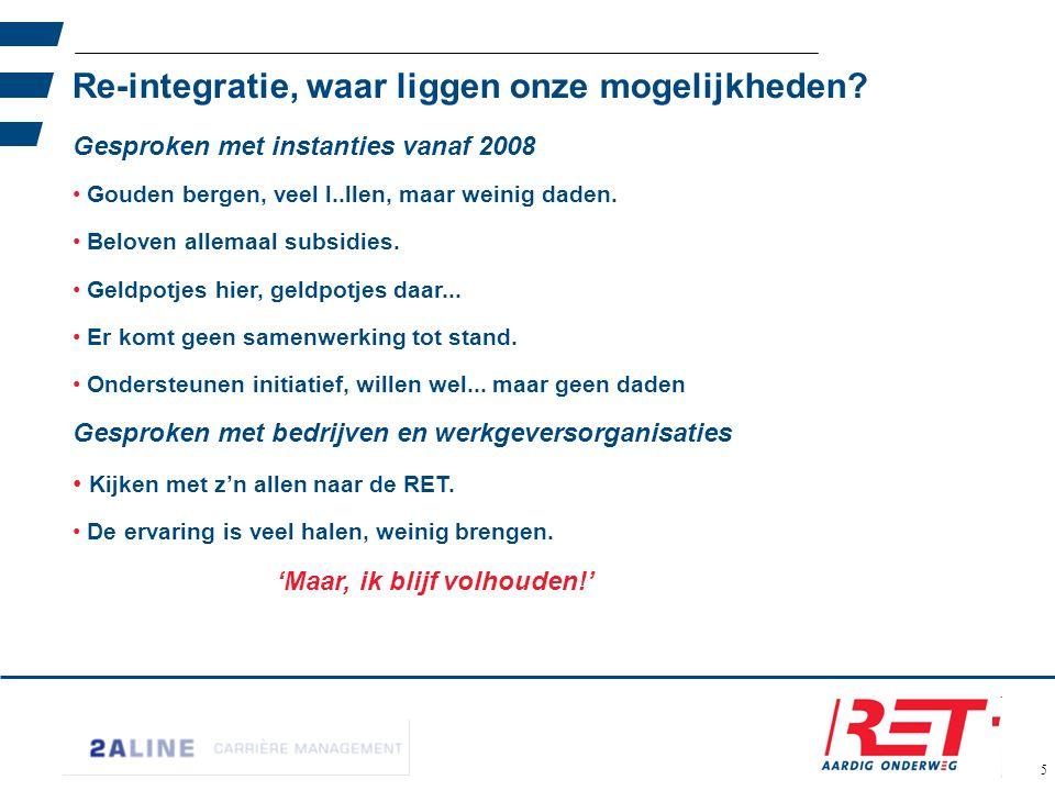 36 Naar een Win-Win situatie Onder het Rotterdamse gezegde: Geen woorden maar daden.