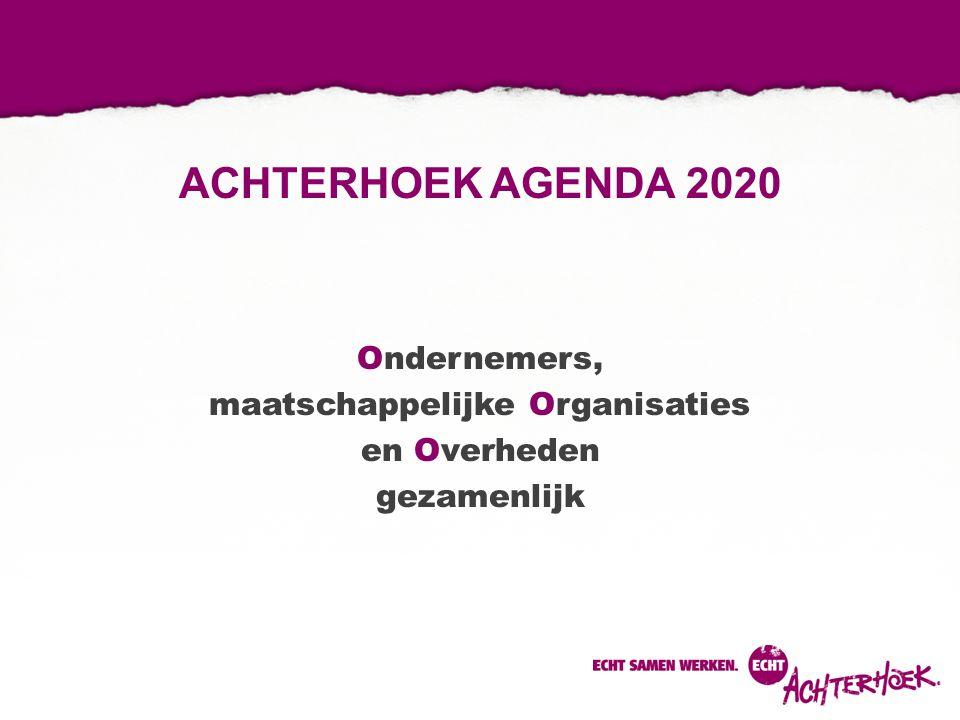 ACHTERHOEK AGENDA 2020 Ondernemers, maatschappelijke Organisaties en Overheden gezamenlijk