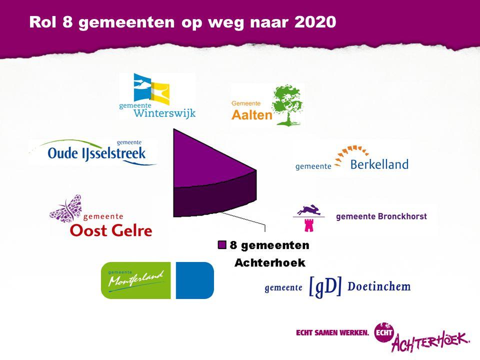 Rol 8 gemeenten op weg naar 2020