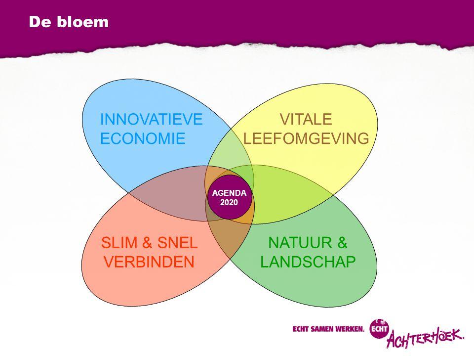 De bloem INNOVATIEVE ECONOMIE VITALE LEEFOMGEVING SLIM & SNEL VERBINDEN NATUUR & LANDSCHAP AGENDA 2020