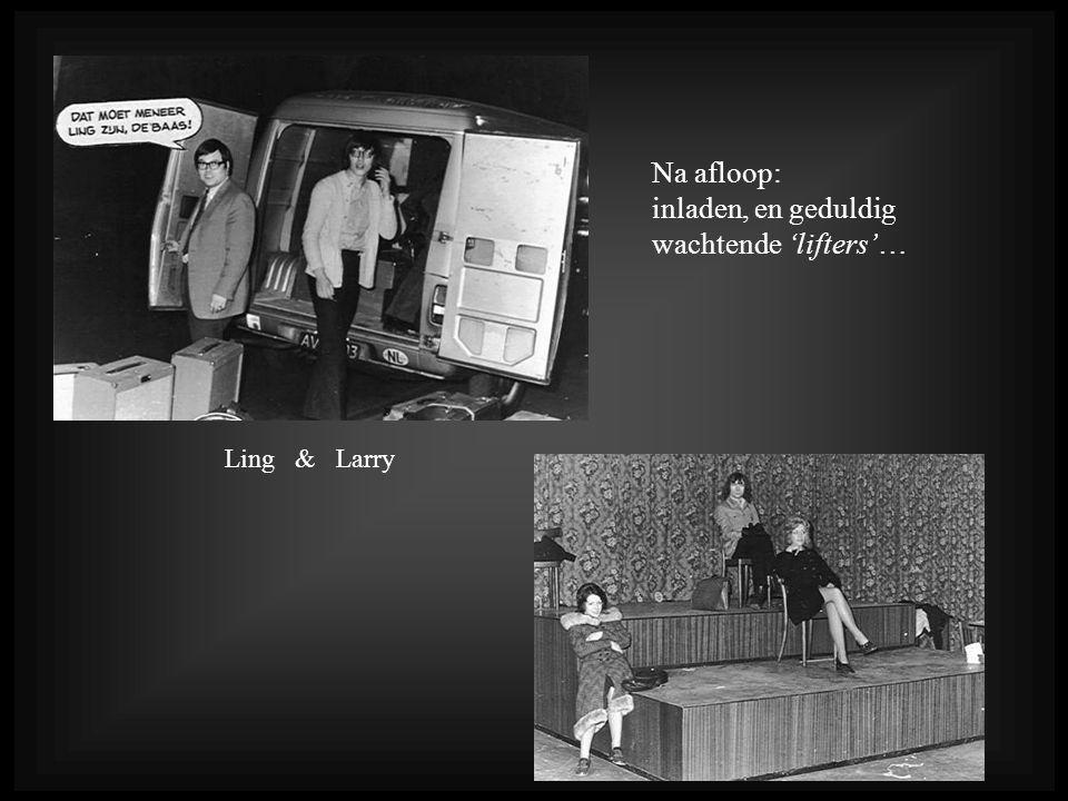 Na afloop: inladen, en geduldig wachtende 'lifters'… Ling & Larry