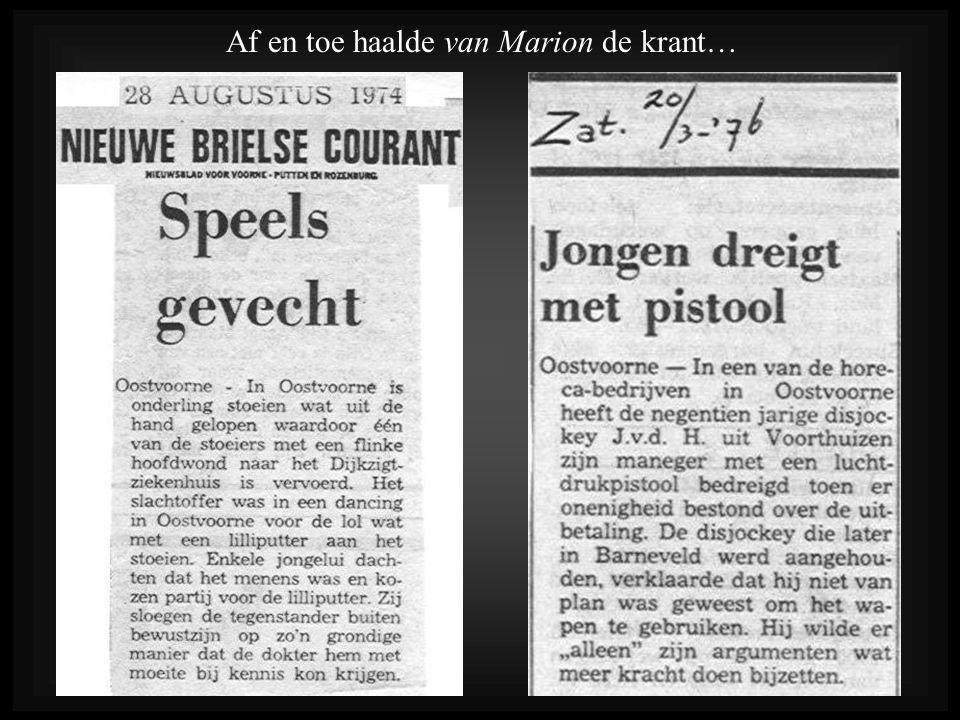 Af en toe haalde van Marion de krant…