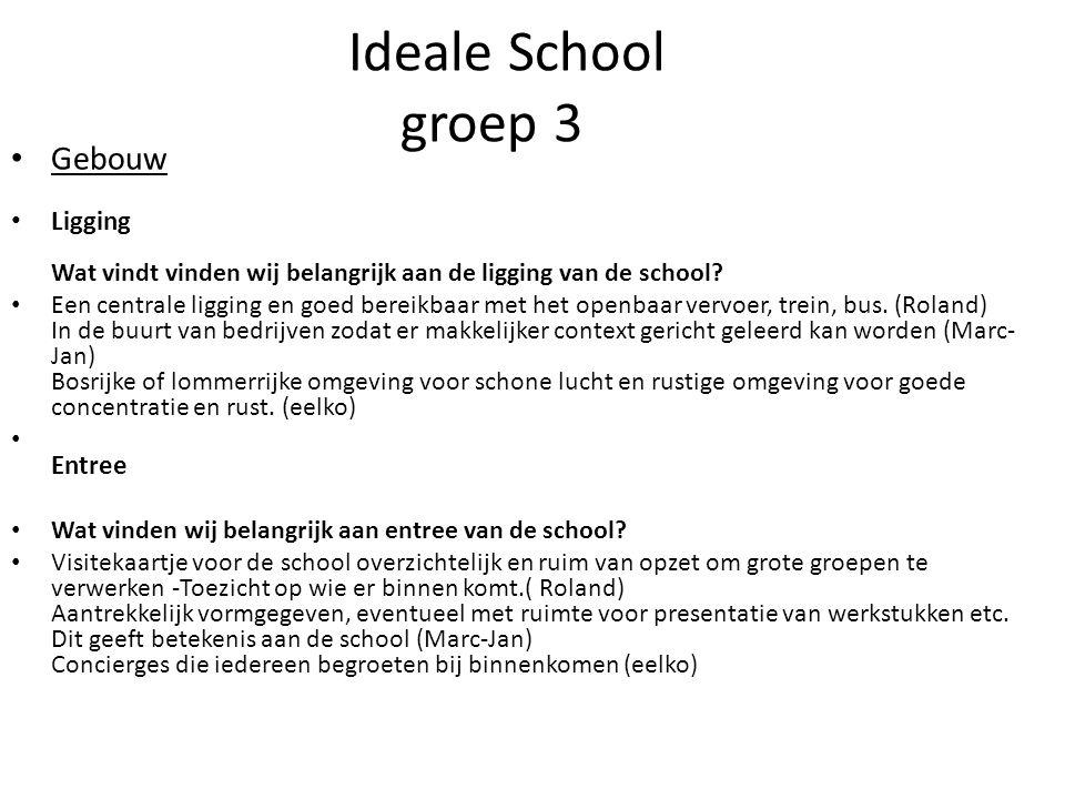 Ideale School groep 3 Gebouw Ligging Wat vindt vinden wij belangrijk aan de ligging van de school.