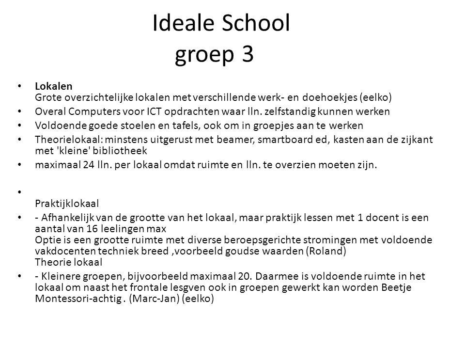 Ideale School groep 3 Lokalen Grote overzichtelijke lokalen met verschillende werk- en doehoekjes (eelko) Overal Computers voor ICT opdrachten waar lln.