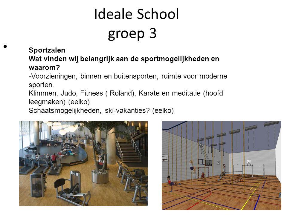 Ideale School groep 3 Sportzalen Wat vinden wij belangrijk aan de sportmogelijkheden en waarom.
