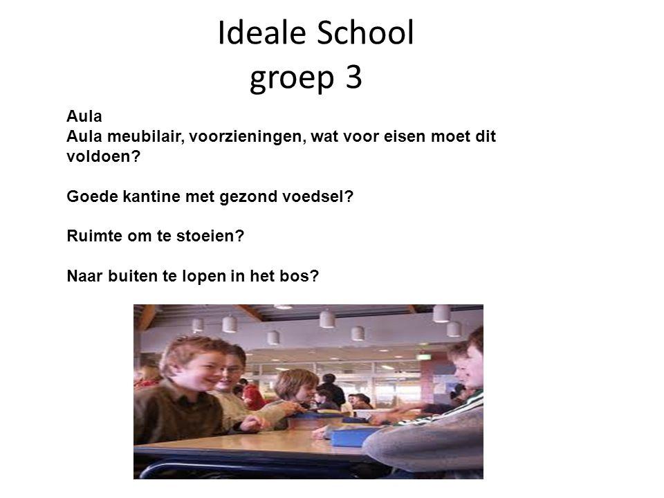 Ideale School groep 3 Aula Aula meubilair, voorzieningen, wat voor eisen moet dit voldoen.
