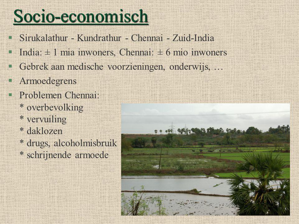 Socio-economisch (vervolg)… §Landarbeiders §Warm & vochtig klimaat §Weinig & geen regenval §Drinkwater.