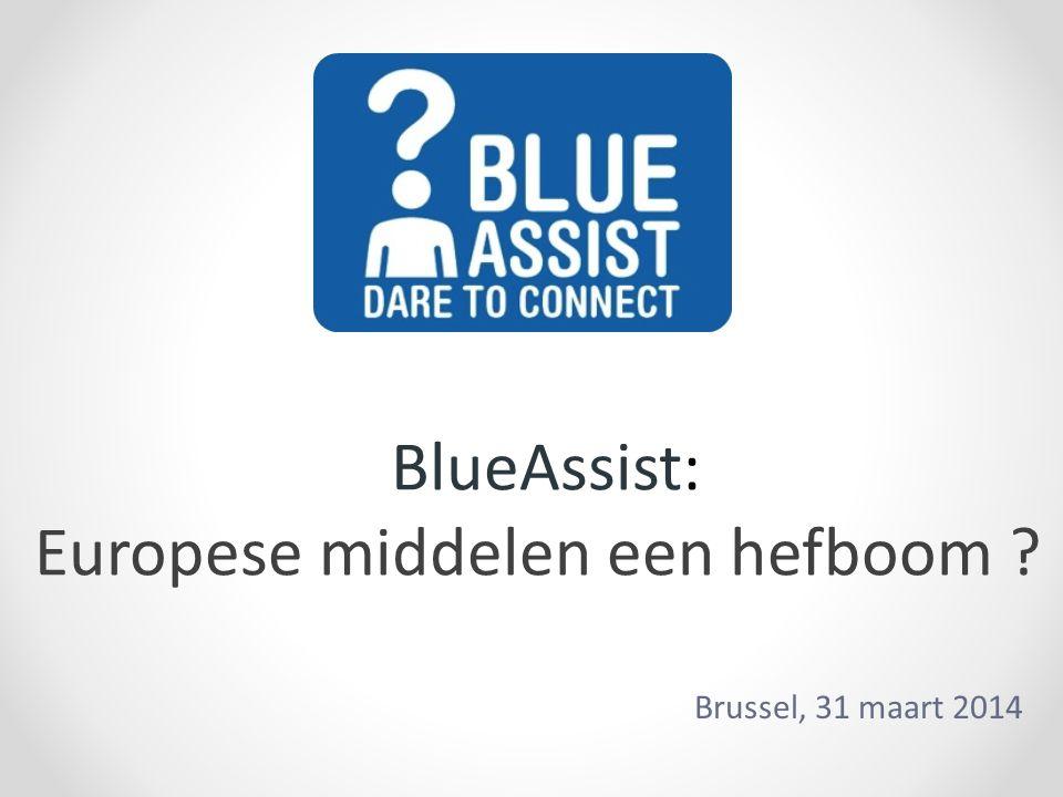 BlueAssist: Europese middelen een hefboom ? Brussel, 31 maart 2014