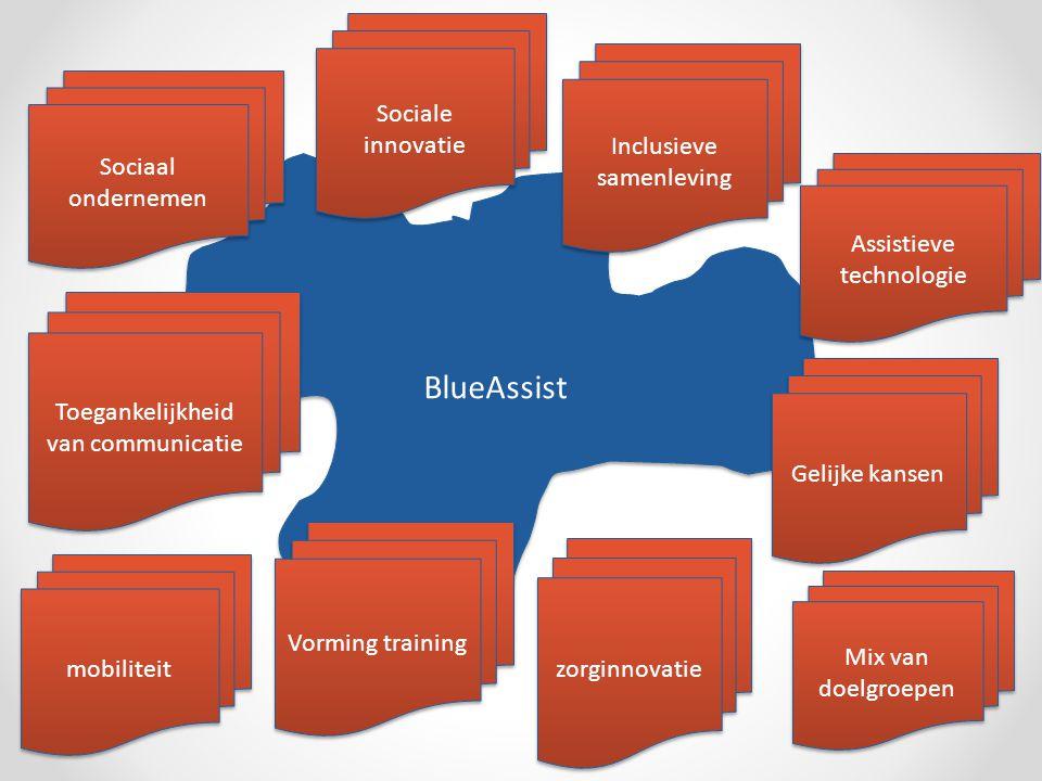 BlueAssist Sociaal ondernemen Sociale innovatie Inclusieve samenleving Toegankelijkheid van communicatie mobiliteit Assistieve technologie zorginnovatie Mix van doelgroepen Vorming training Gelijke kansen