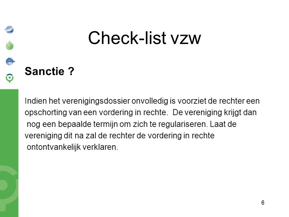 6 Check-list vzw Sanctie .
