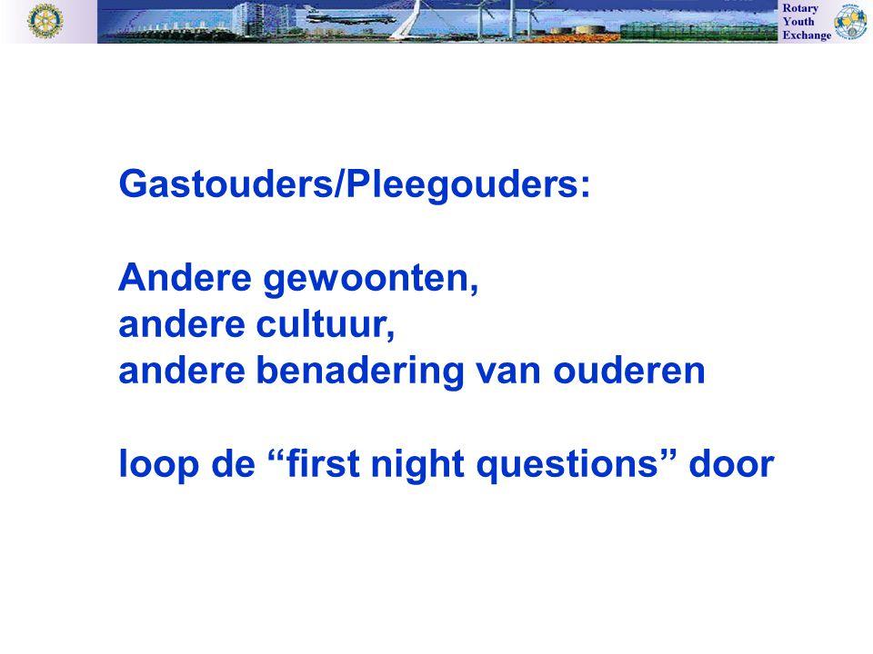 Gastouders/Pleegouders: Andere gewoonten, andere cultuur, andere benadering van ouderen loop de first night questions door