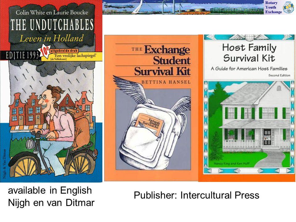 Publisher: Intercultural Press Nijgh en van Ditmar available in English