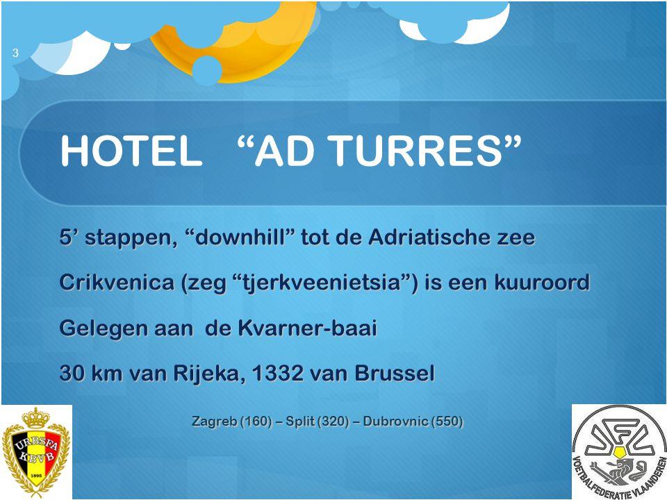 """HOTEL """"AD TURRES"""" 5' stappen, """"downhill"""" tot de Adriatische zee Crikvenica (zeg """"tjerkveenietsia"""") is een kuuroord Gelegen aan de Kvarner-baai 30 km v"""