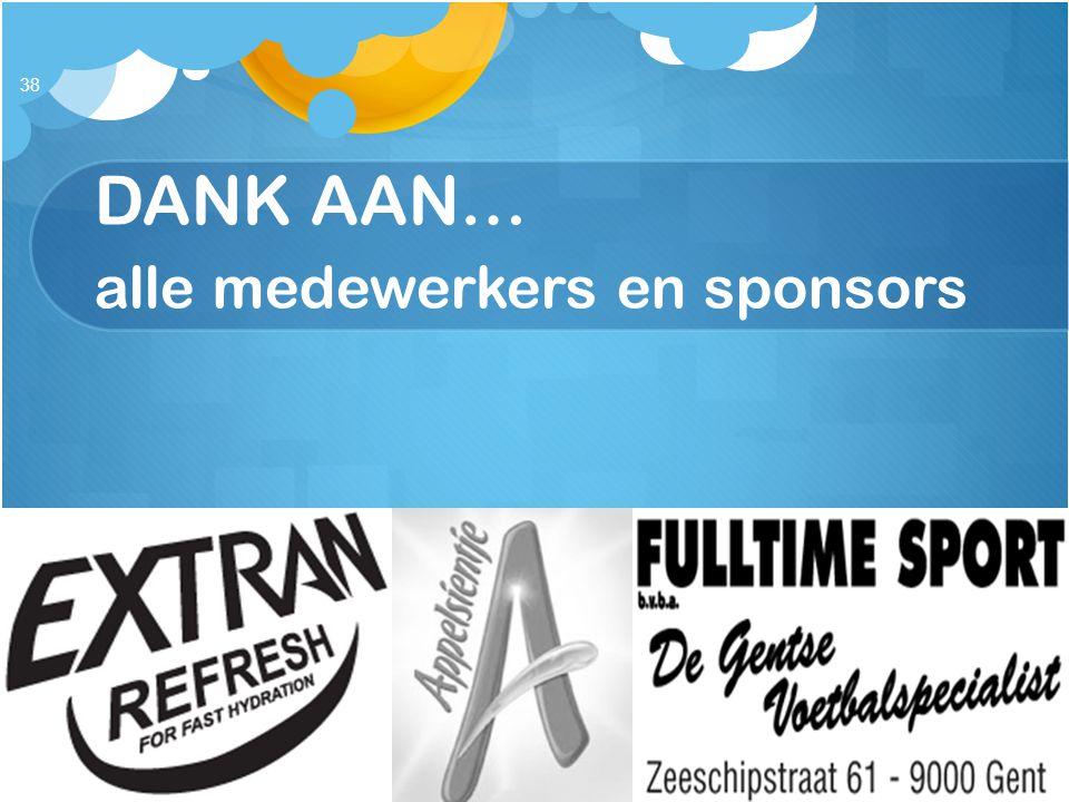 DANK AAN… alle medewerkers en sponsors 38