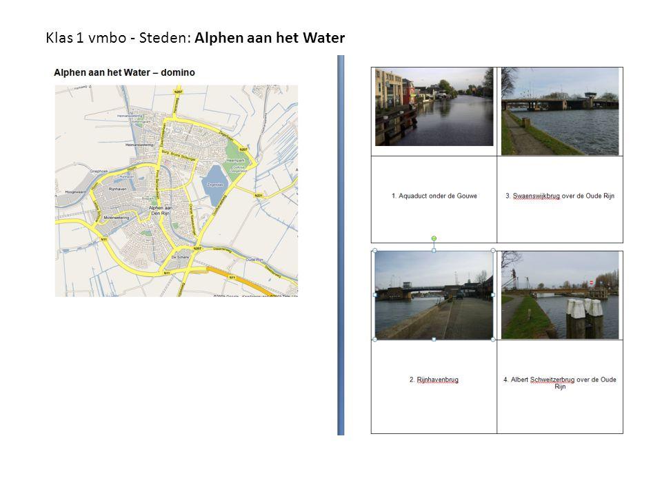 Klas 1 vmbo - Steden: Alphen aan het Water