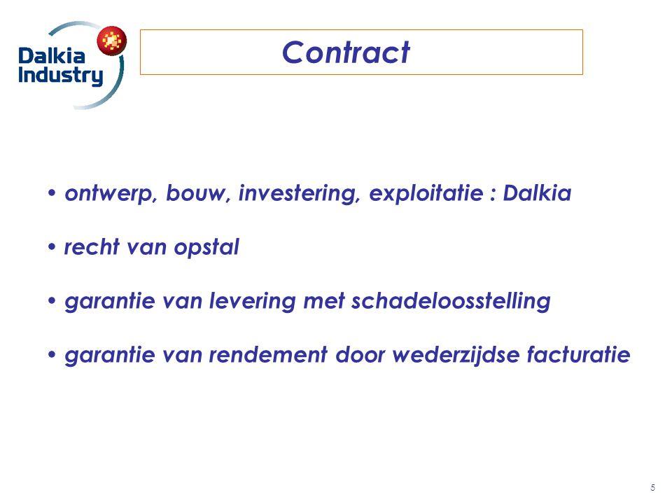 Contract 5 ontwerp, bouw, investering, exploitatie : Dalkia recht van opstal garantie van levering met schadeloosstelling garantie van rendement door