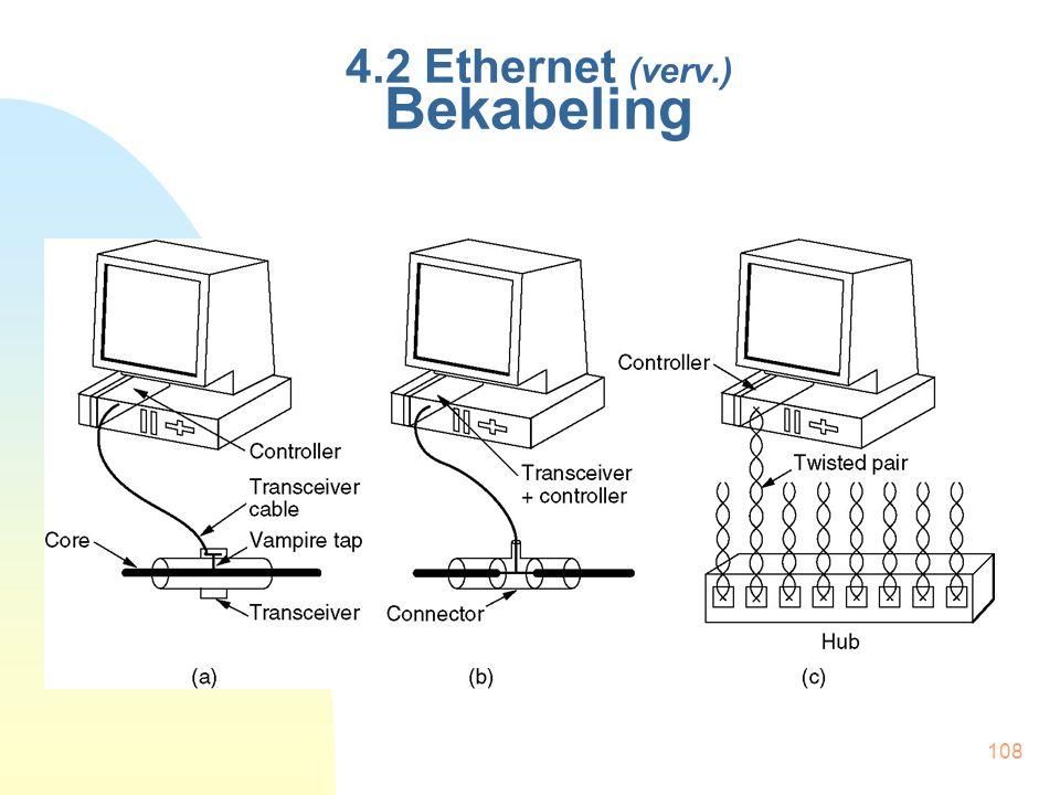 108 4.2 Ethernet (verv.) Bekabeling