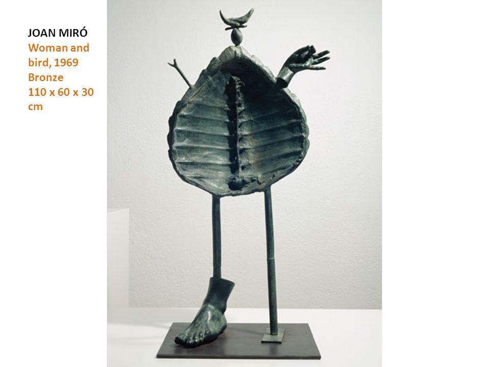 JOAN MIRÓ Woman and bird, 1969 Bronze 110 x 60 x 30 cm