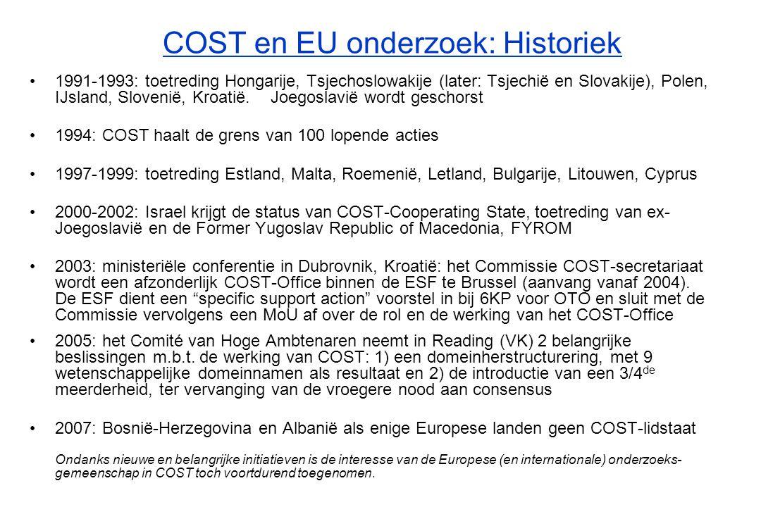 COST Lidstaten in 2007 * Niet geassocieerd met het KP  27 EU-lidstaten  3 Kandidaat-lidstaten  Kroatië *  Voormalige Joegoslavische Republiek Macedonië (FYROM)*  Turkije  3 EVA-lidstaten  IJsland  Noorwegen  Zwitserland  Andere Europese landen  Servië  1 COST-samenwerkingsland  Israël