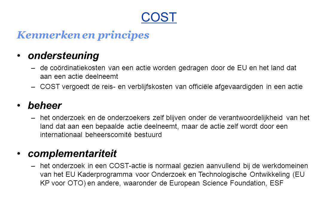 Kenmerken en principes een COST-actie...