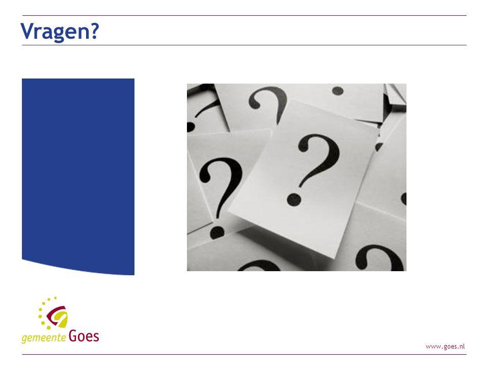 www.goes.nl Vragen?