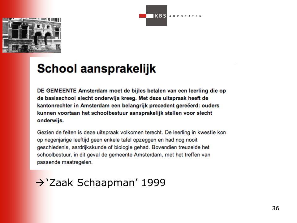 36  'Zaak Schaapman' 1999