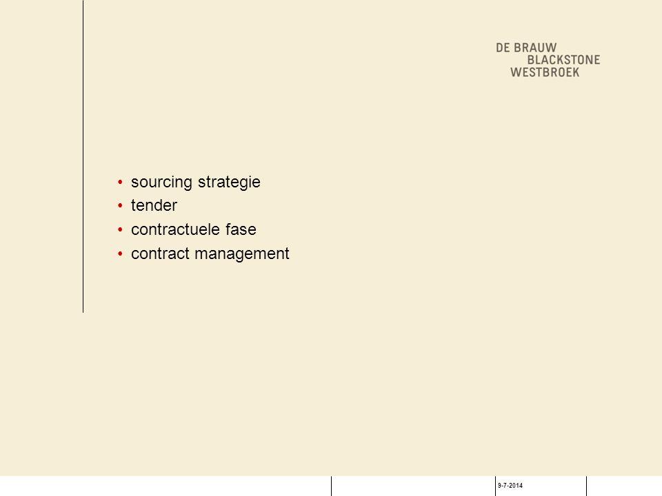 9-7-2014 Bevriezingsperiode bepalen Service Levels (SLs) Valkuilen: achteruitgang SLs na aankondiging vrijbrief leverancier om SLs onder te waarderen Oplossingen: overeenkomen meetinstrumenten documenteer SLs voor aankondiging