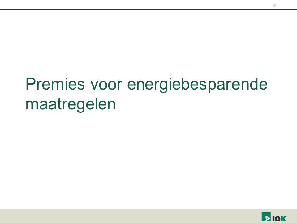 Premies voor energiebesparende maatregelen